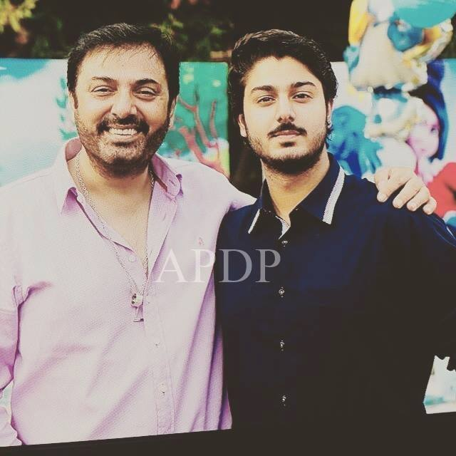 Nauman Ijaz With His Elder Son