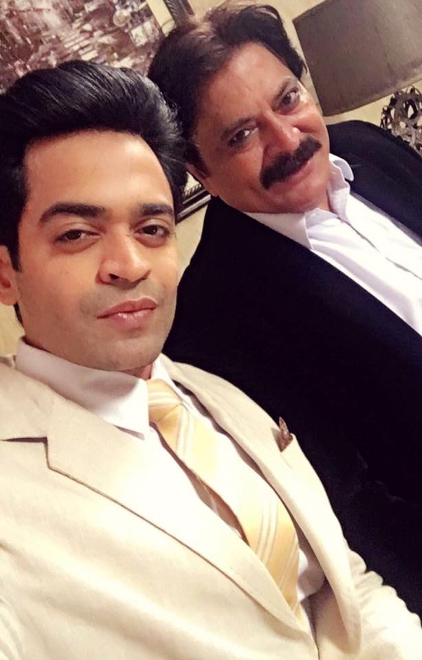 Naveed Raza & Shabbir Jaan During Shooting