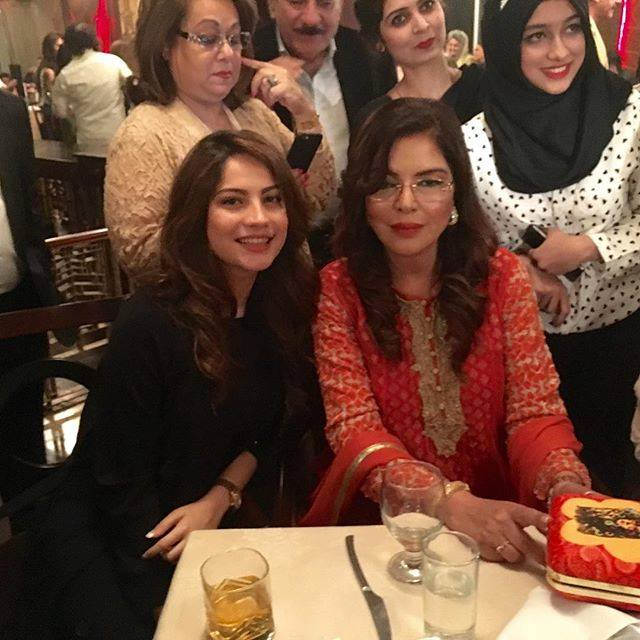 Neelam Muneer Khan with Bollywood Actress Zeenat Aman in Lahore
