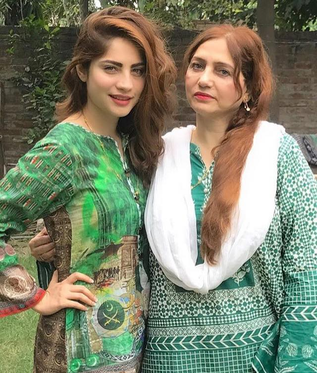 Neelam Munir Celebrating Independence Day With Her Mother