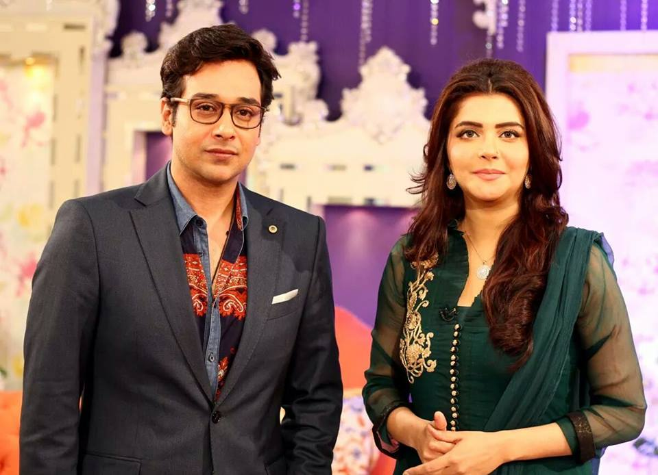 Nida Yasir With Faisal Qureshi In Good Morning Pakistan