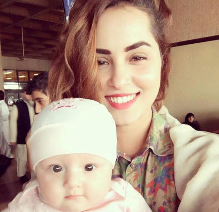 Nimra Khan With Cute Baby