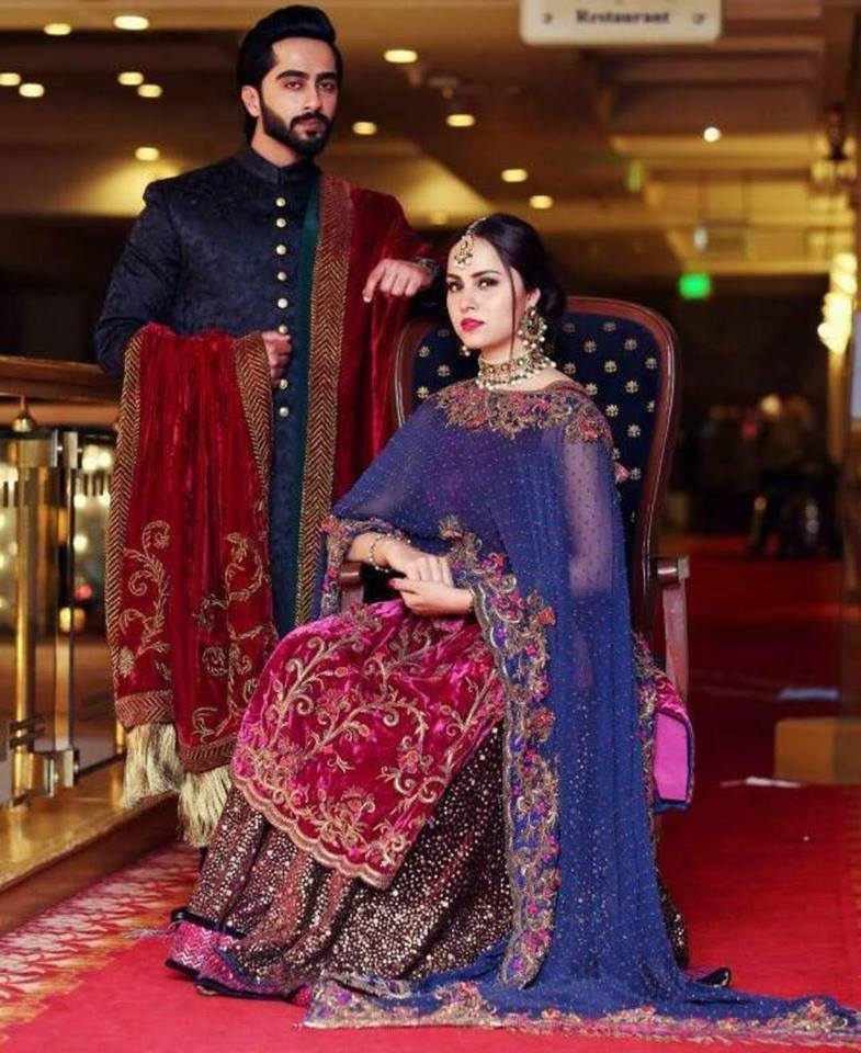 Nimra Khan With Her Fiancé On Her Engagement
