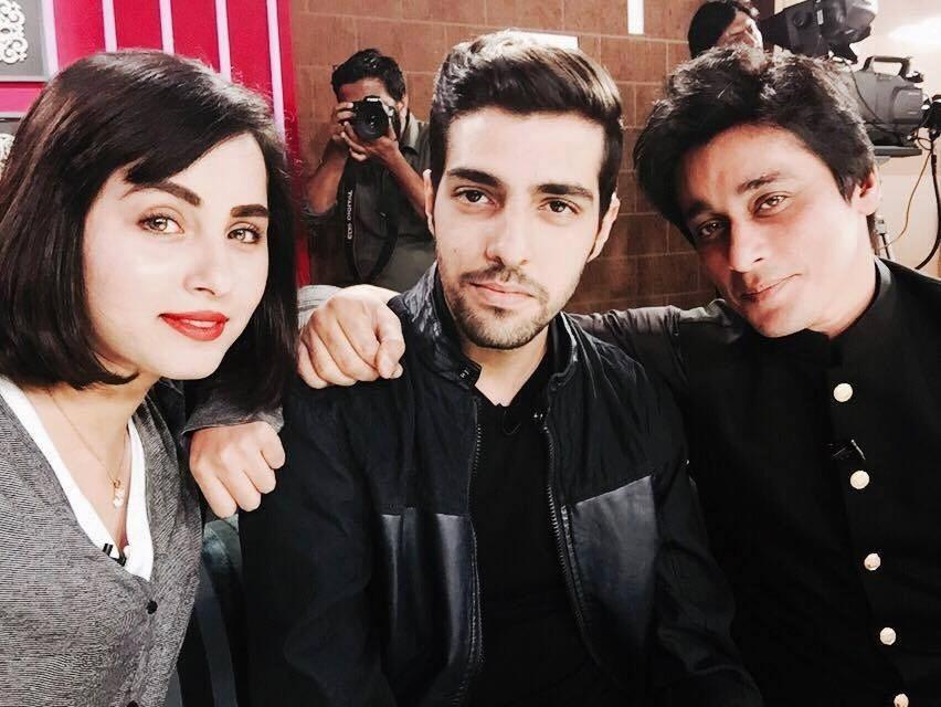 Nimra Khan & Furqan Sheikh with Sahir Lodhi in His Morning Show