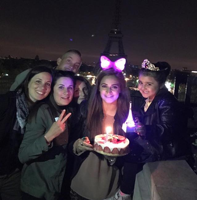 Noor Bukhari Celebrating Her Birthday In Paris