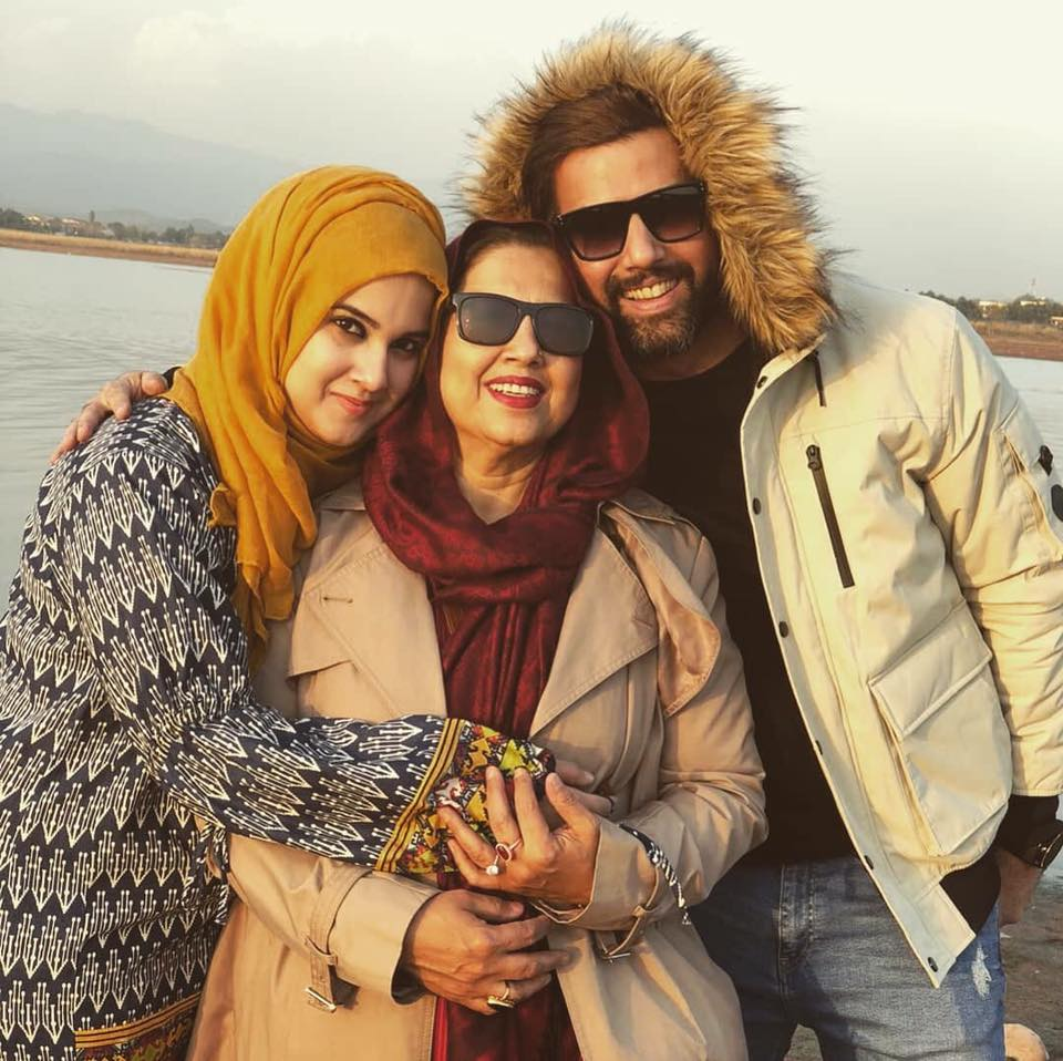 Noor Hassan With His Mother & Sister