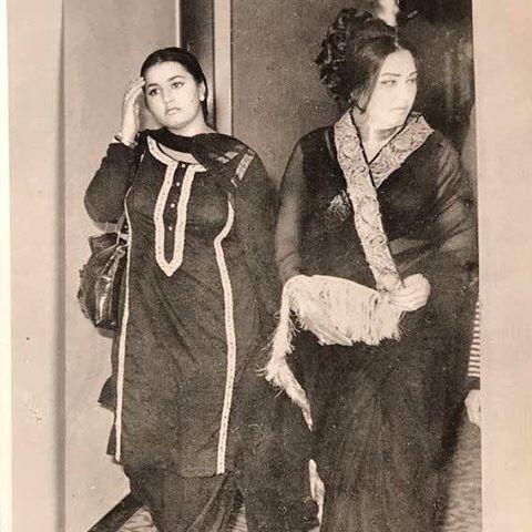 Noor Jehan With Daughter Zilla Huma