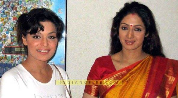 Old Picture Meera With Bollywood Superstar Sridevi