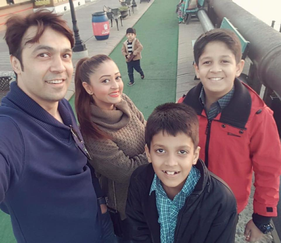 Omair Leghari With His Family
