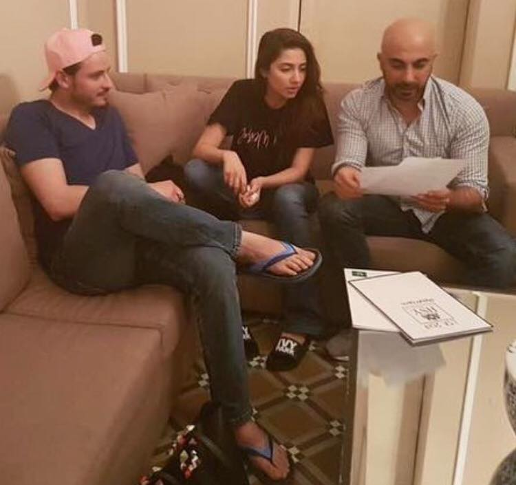 Osman Khalid & Mahira Khan preparing With HSY