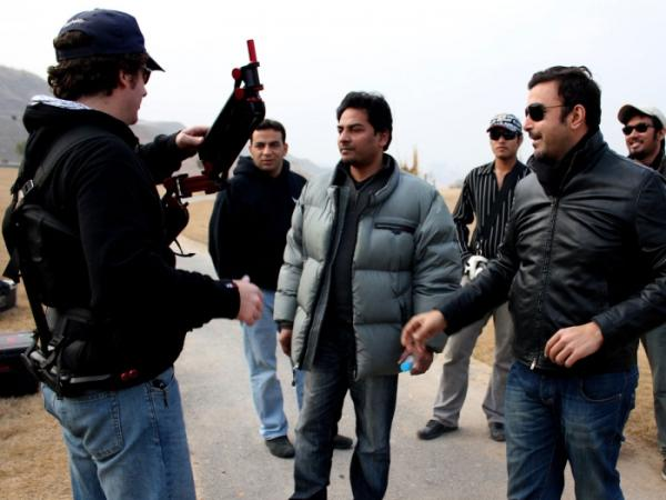 Pakistani Actor on the Sets of WAAR Movie