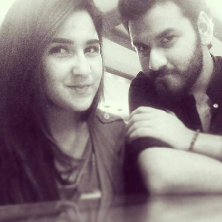 Pakistani Actress Anoushay Abbasi With Her Brother