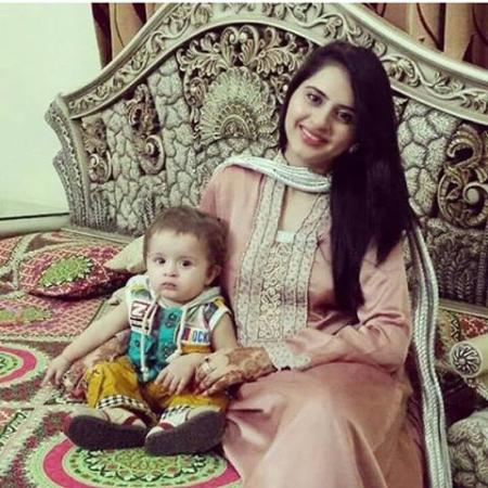 Pakistani Actress Fatima Effendi With Her Son Almir
