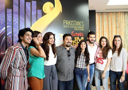 Pakistani TV Stars Spotted At Press Conference For 3rd Hum Awards In Dubai