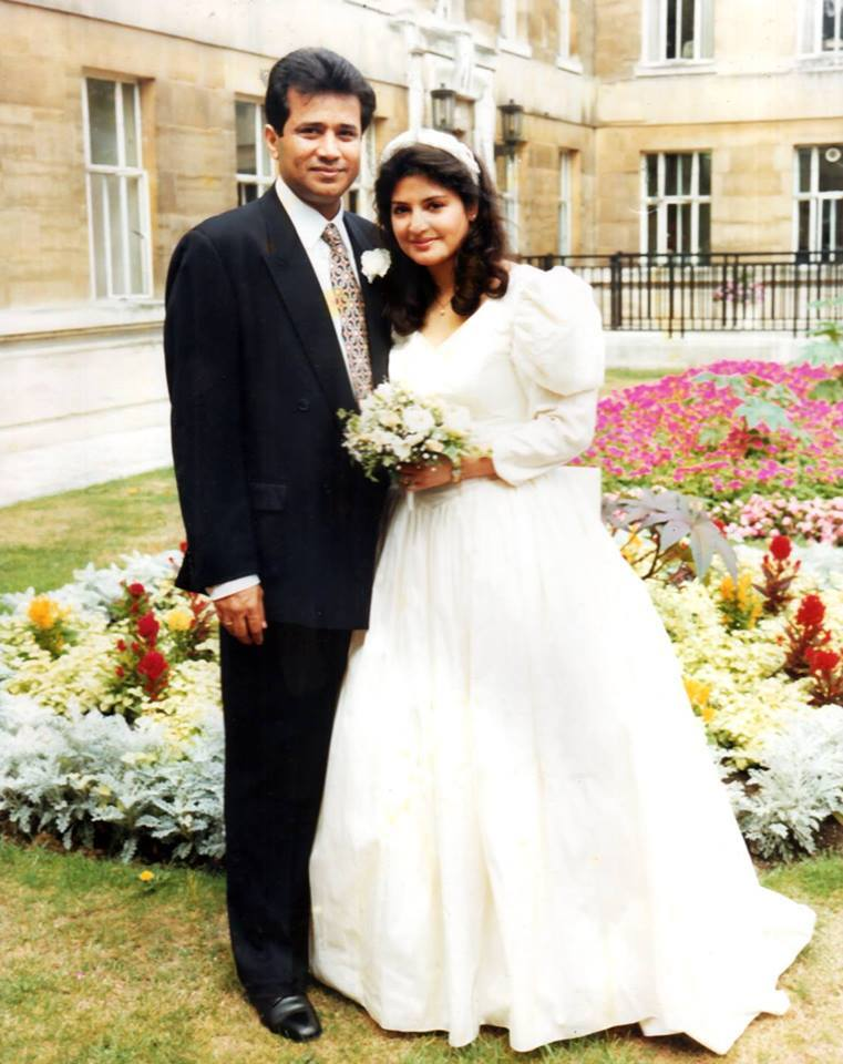Photo of Late Nazia Hassan on Her Wedding
