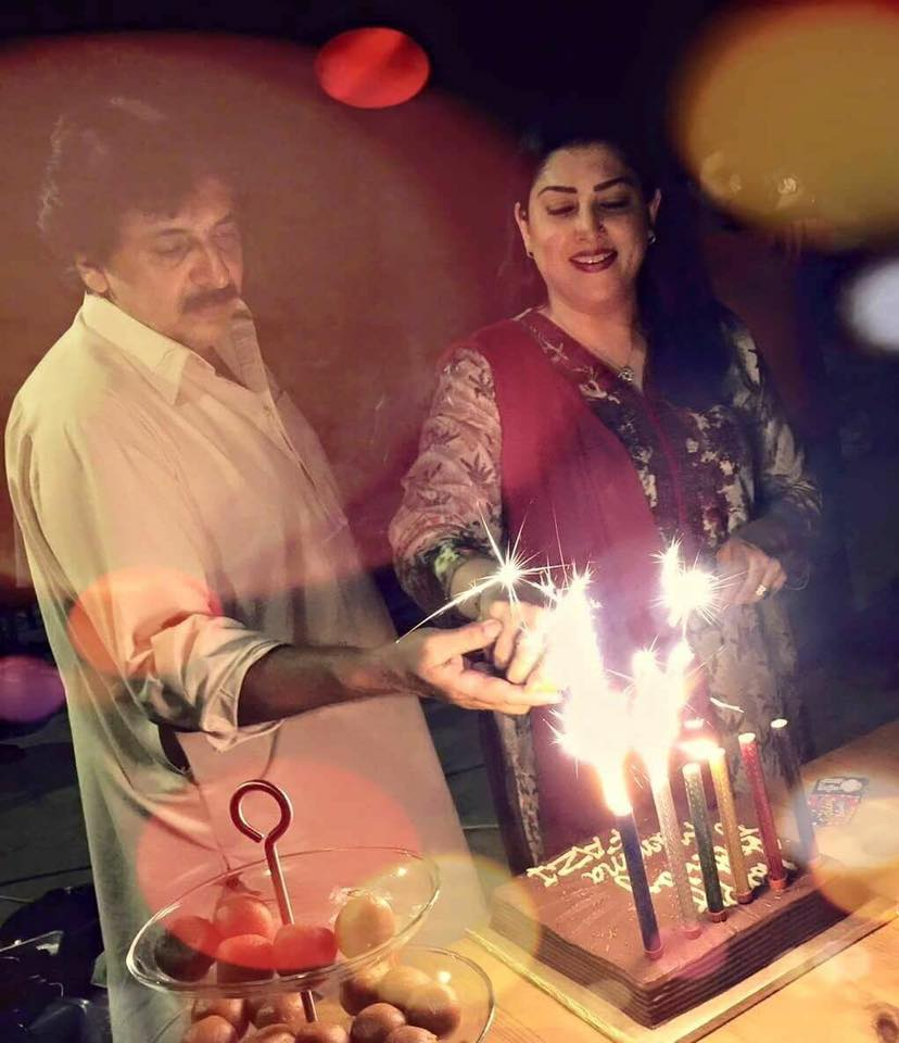 Qaiser Khan & Fazila Celebrating Their Wedding Anniversary