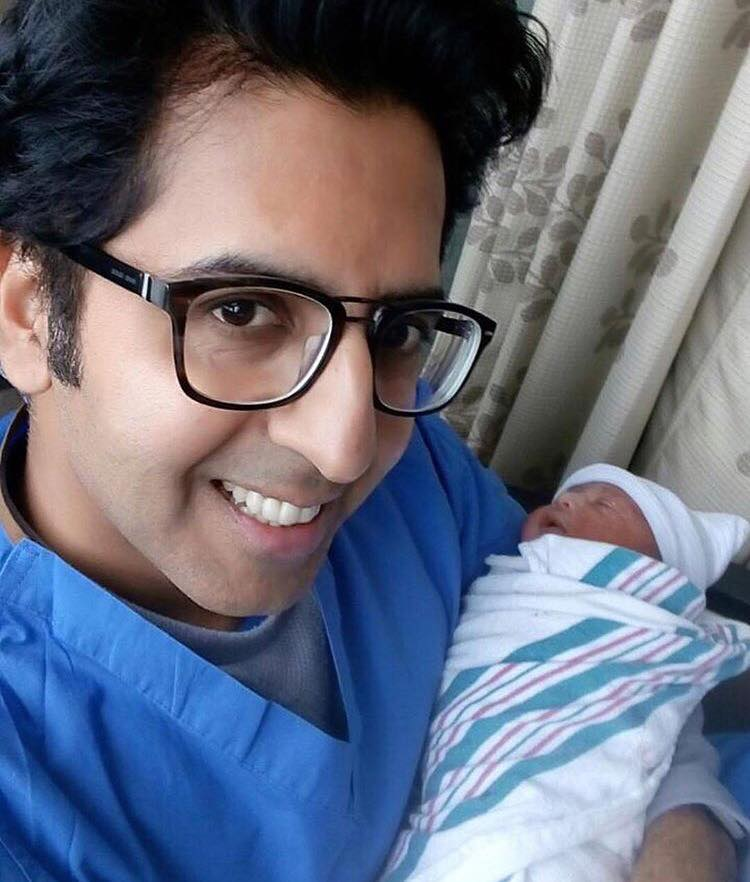 RJ Khalid Malik With His Baby Boy