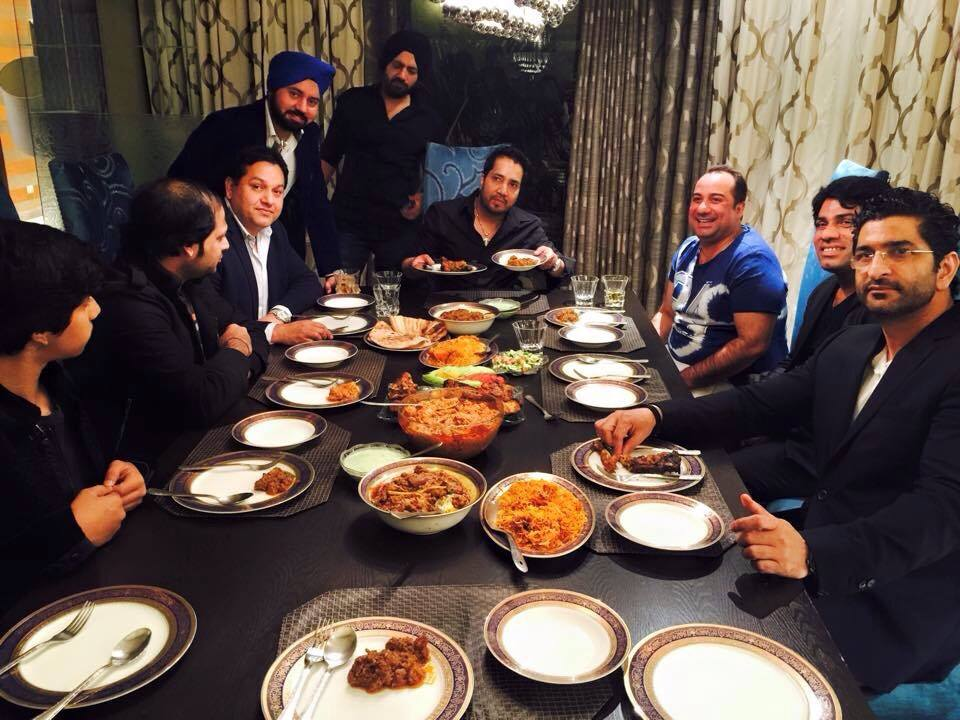 Rahat Fateh Ali Khan Hosted A Personal Dinner For Mika Singh