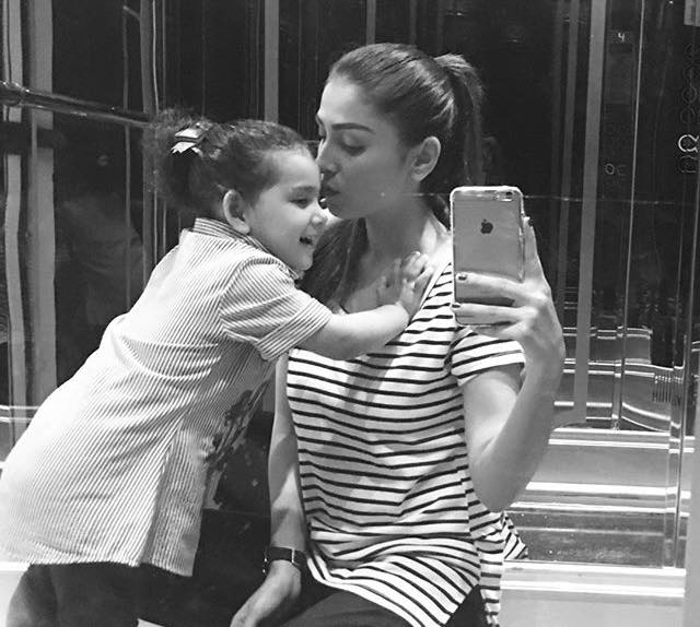 Recent Click Of Aiza Khan With Her Daughter