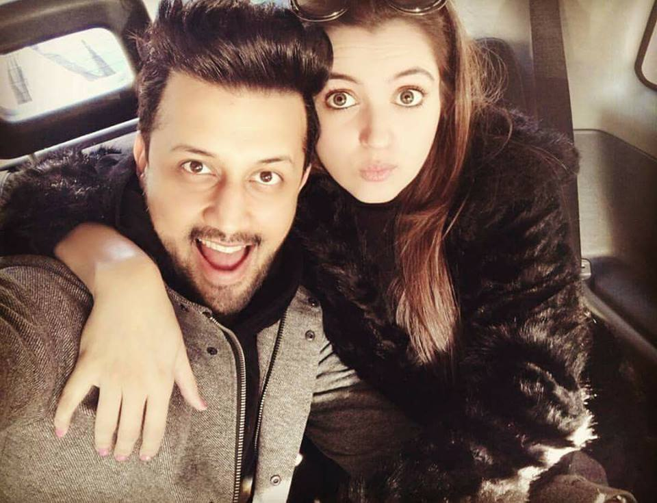 Recent Click Of Atif Aslam With His Wife Sara