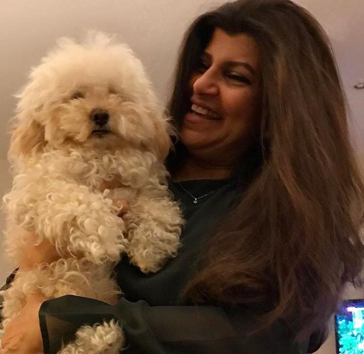Rubina Ashraf With Her Pet Dog