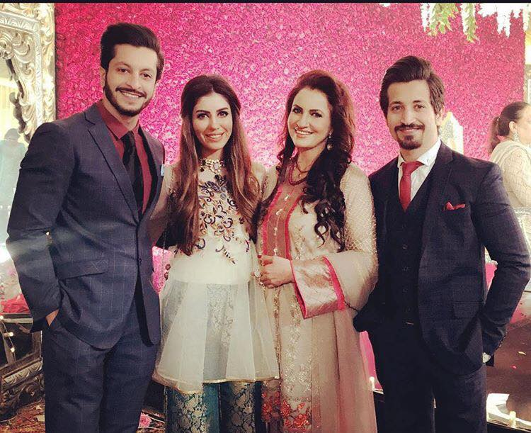 Saba Faisal With Her Family