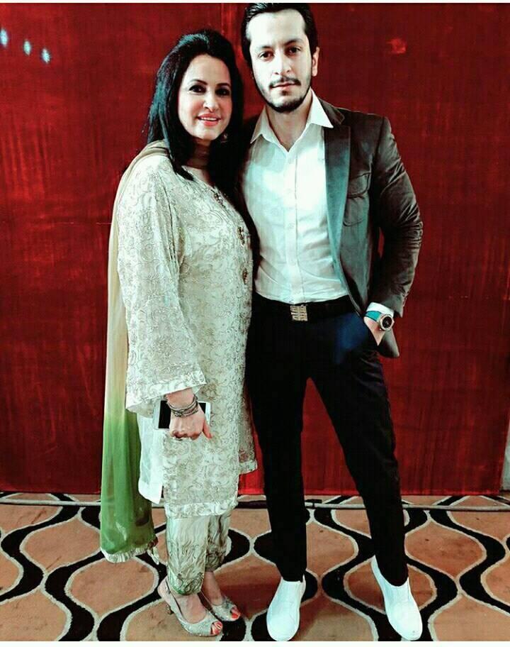 Saba Faisal With Her Son Arsalan Faisal