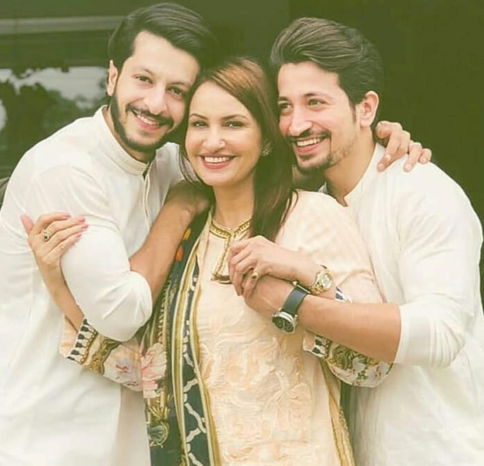 Saba Faisal With Her Sons