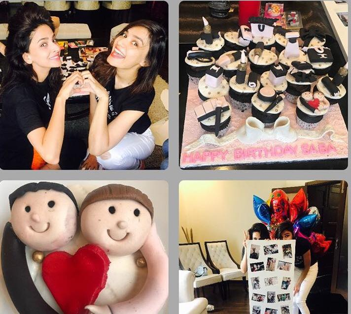 Saba Qamar Celebrating Her Birthday With Friend