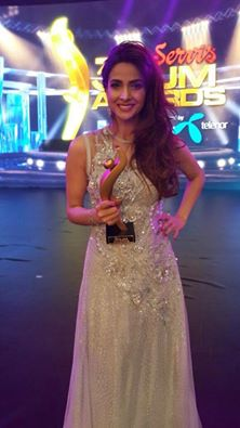 Saba Qamar Won Best Actress Award at 3rd Hum Awards
