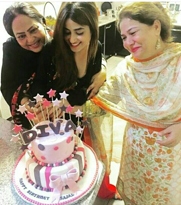 Sajal Ali Celebrating Birthday With Her Mother