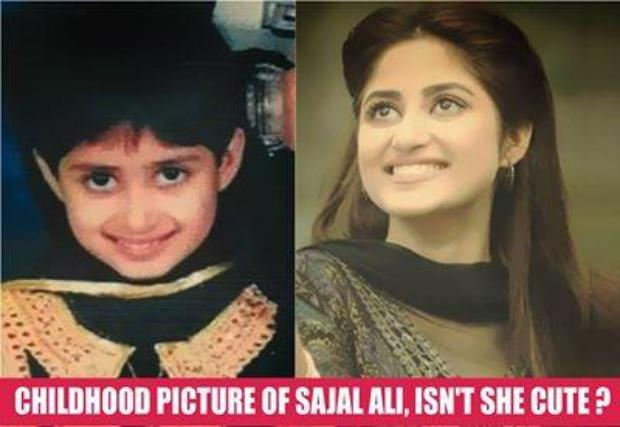 Sajal Ali Childhood Photo
