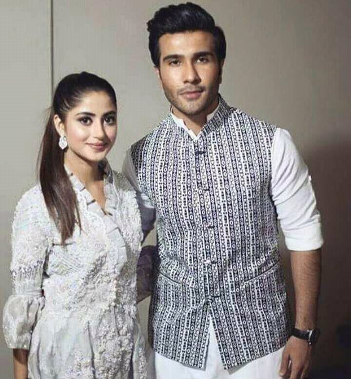 Sajal Ali With Feroz Khan