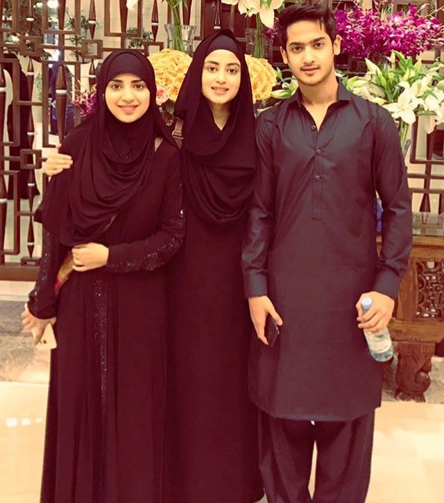 Sajal Ali With Her Brother & Sister