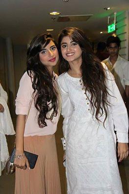 Sajal Ali With Her Sister Saboor Ali