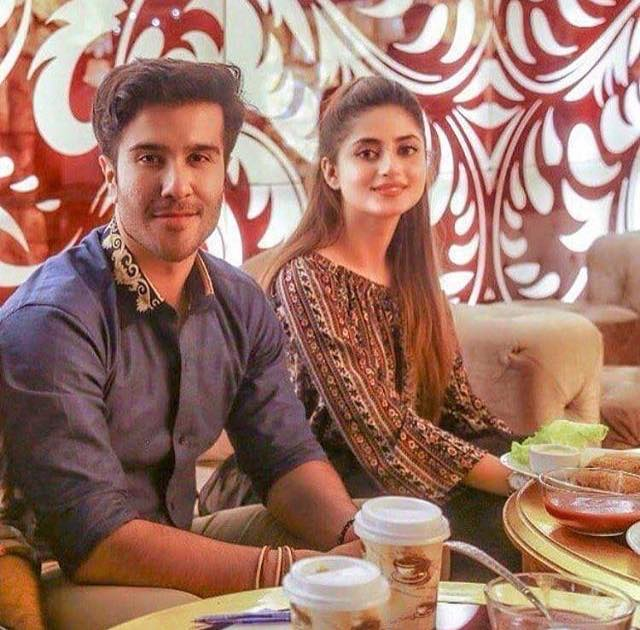 Sajal Ali & Feroze Khan Having Lunch Together