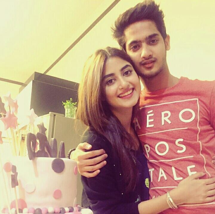 Sajal Ali with brother