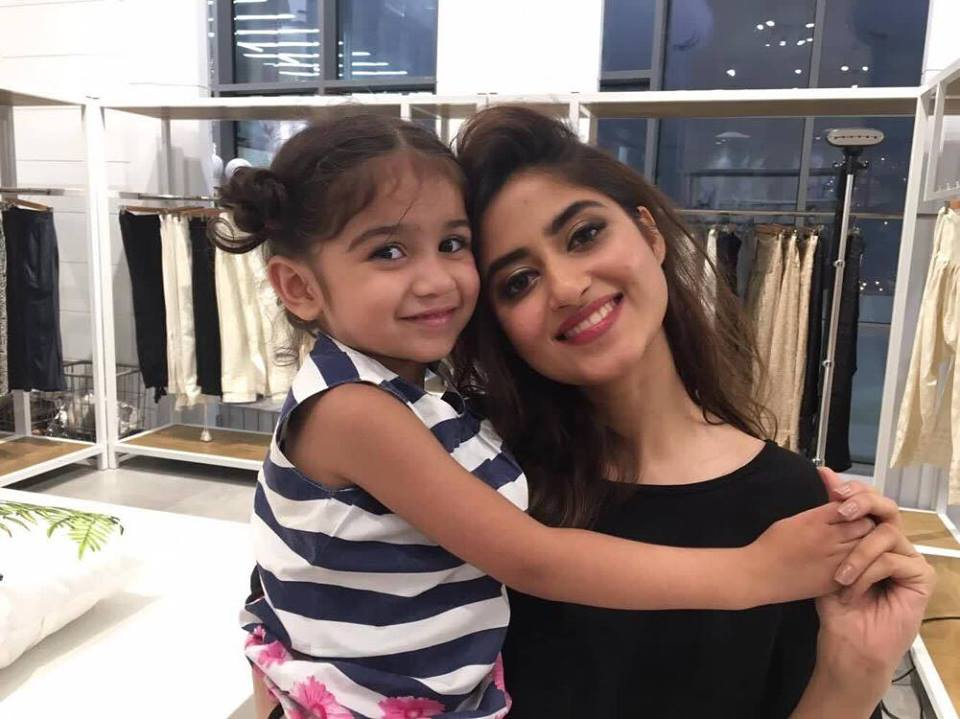 Sajal Aly With Fan