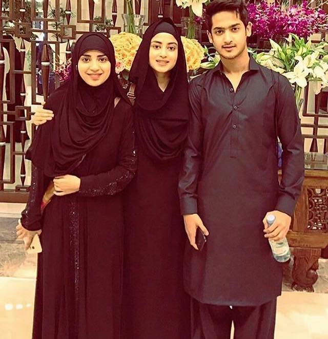 Sajal Aly With Her Siblings