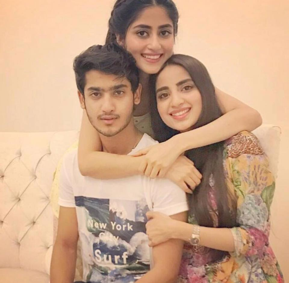 Sajal & Saboor With Their Brother