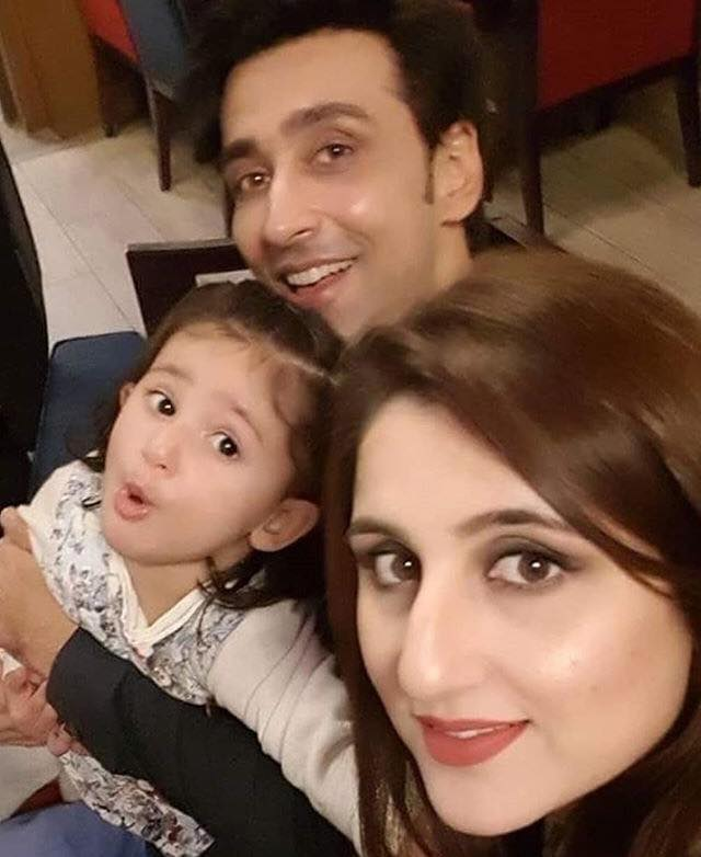 Sami Khan With Wife & Daughter