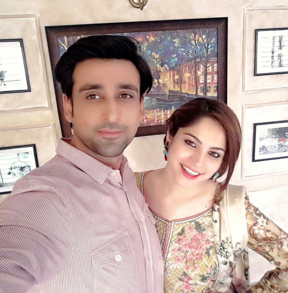 Sami Khan & Neelum Muneer During Shooting