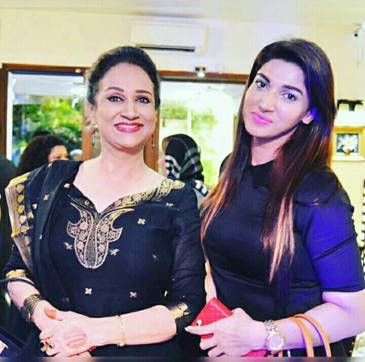 Sana Fakhar with Bushra Ansari
