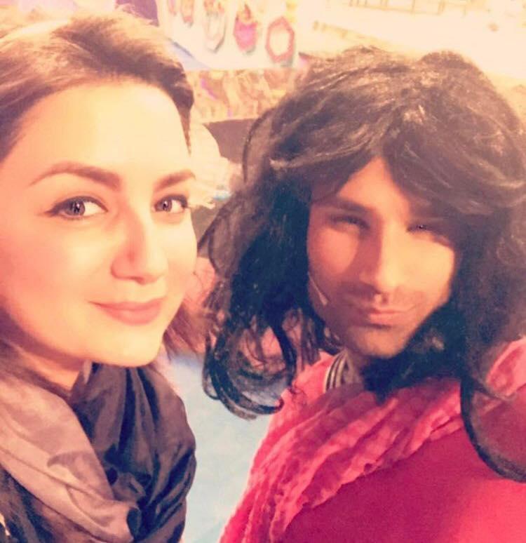 Sana Faysal With Comedian Nasreen