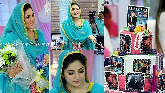 Sanam Baloch Celebrated Her Bithday On Set