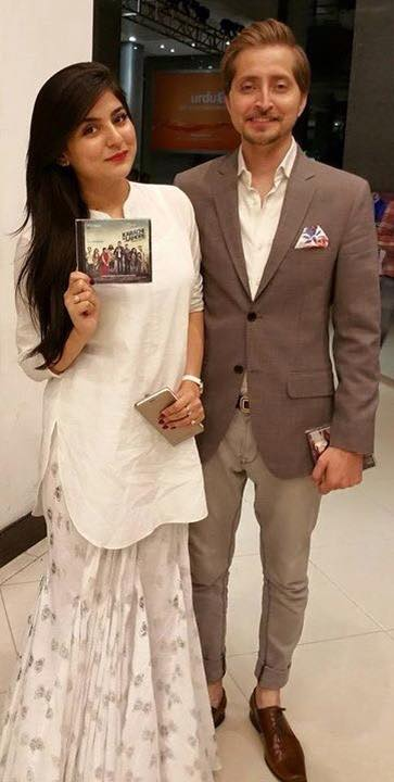 Sanam Baloch With Husband Promoting Karachi To Lahore