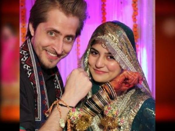 Sanam Baloch and Abdullah Farhatullah Wedding Pic
