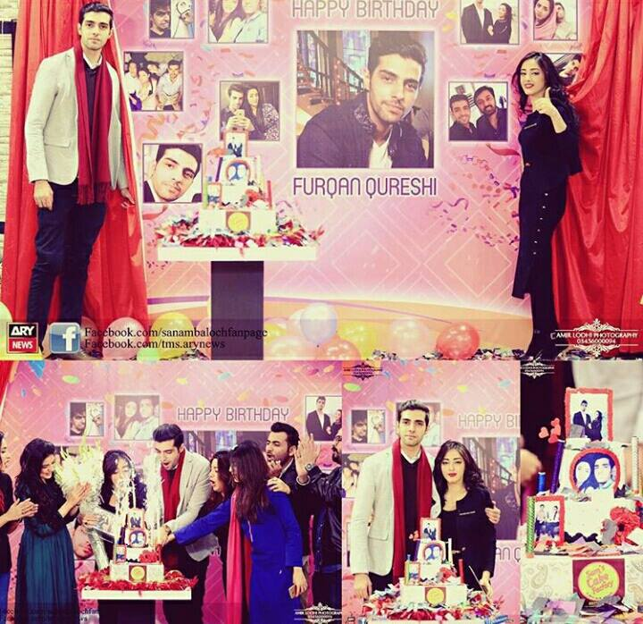 Sanam Chaudry celebrating Furqan Qureshi