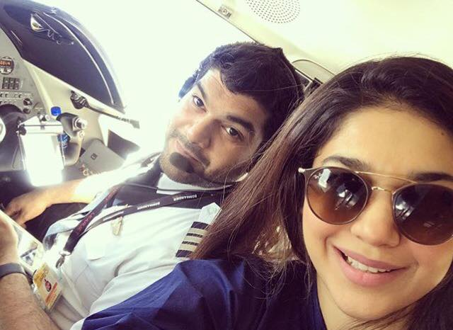 Sanam Jung With Her Pilot Husband