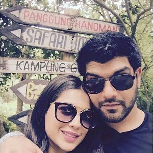 Sanam Jung with husband Qassam on vacation after wedding